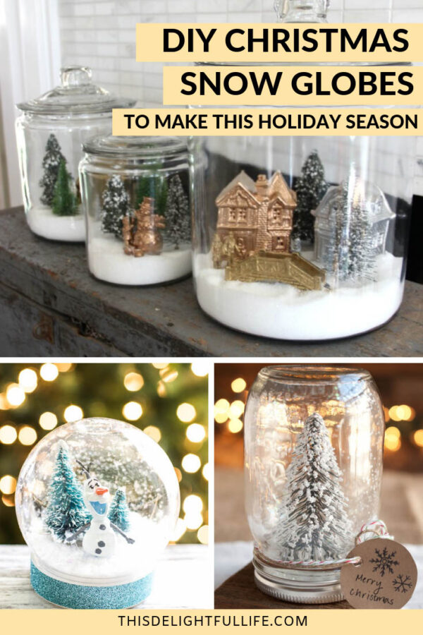 Dreaming of a white Christmas? Why not create your very own wintery scene with these DIY Christmas snow globes. These snow globes are perfect for Christmas decor or even a DIY Christmas gift.