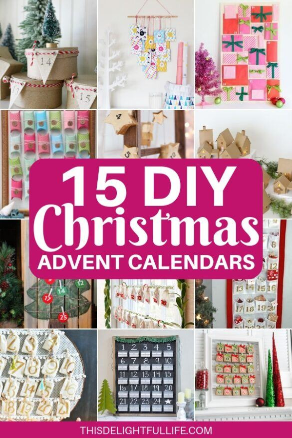 15 DIY Christmas Advent Calendars - Count down the days to Christmas with these creative DIY Christmas advent calendars. Not only are these DIY advent calendars fun to make – they get your creative juices flowing, act as Christmas decor, build anticipation, and some can even be reused next year!