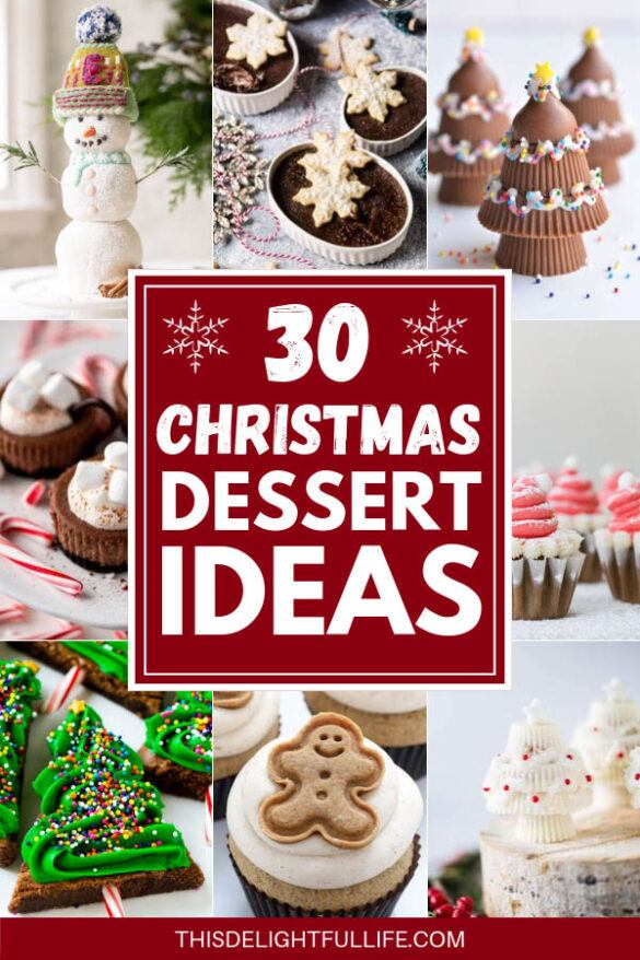 30 Irresistible Christmas Desserts - Bake your heart out this holiday season with these 30 delicious Christmas desserts! With ideas for Christmas cookies, festive cakes, and sweet treats galore, these Christmas desserts will definitely make the next months feel like the most delicious time of the year.
