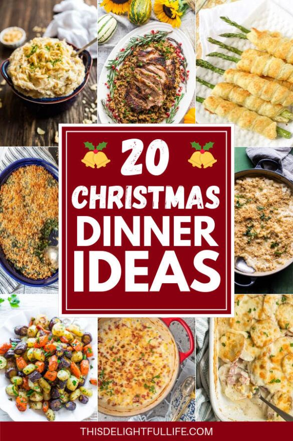 20 Christmas Dinner Recipes - Get ready for your holiday meal with these easy Christmas dinner ideas. From side dishes and appetizers to the main course, we have something on this list for whatever you need for Christmas dinner ideas. These Easy Christmas Dinner Ideas will take your meal to the next level and make your Christmas dinner amazing.
