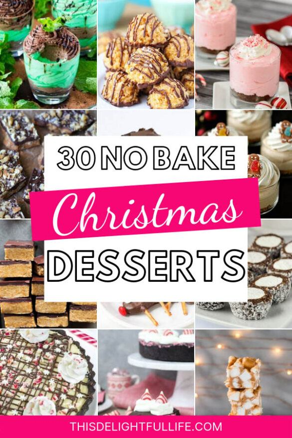 30 No Bake Christmas Desserts - These no bake Christmas desserts are not only delicious but quick and easy to make too! They are so good that nobody will ever know they took almost no time at all to make!