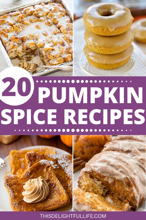 20 Pumpkin Spice Recipes - If you are an avid pumpkin spice fan, be ready to step up your game with these pumpkin spice recipes. I know I can't get enough of the fragrant combination of nutmeg, cinnamon, cloves, ginger and allspice – I will take my pumpkin spice any way I can get it.