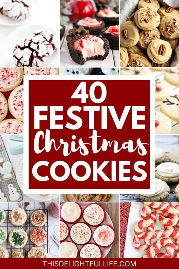 40 Christmas Cookies. Make your holiday countdown even better with these festive Christmas cookies! Fire up your oven and start baking to spread some delicious holiday cheer!