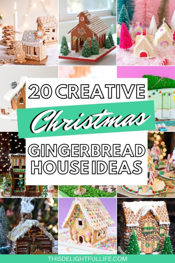20 Gingerbread House Ideas - Looking for some fun gingerbread houses? Here we've rounded up 20 of the best and cutest gingerbread house ideas for Christmas!